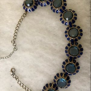 Francesca's Blue Statement Necklace